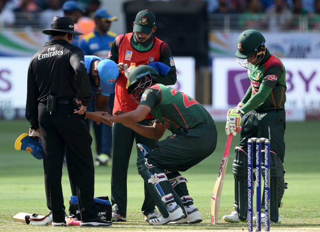 Tamim had fractured his wrist in the Asia Cup.