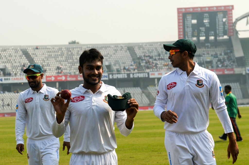 Mehidy Hasan was the star of the match for Bangladesh.