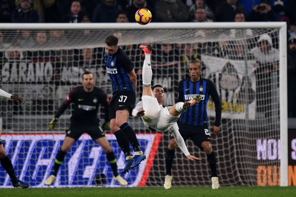 Cristiano Ronaldo of Juventus in action during the Serie A match between Juventus and FC Internazionale