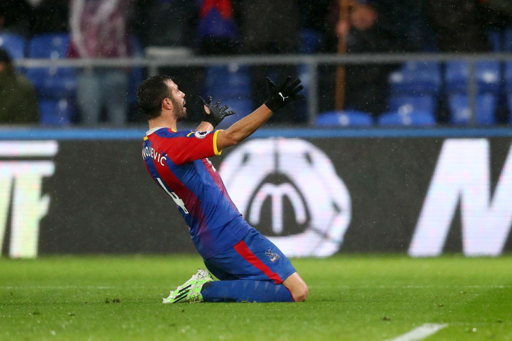 Luka Milivojevic celebrates his winner