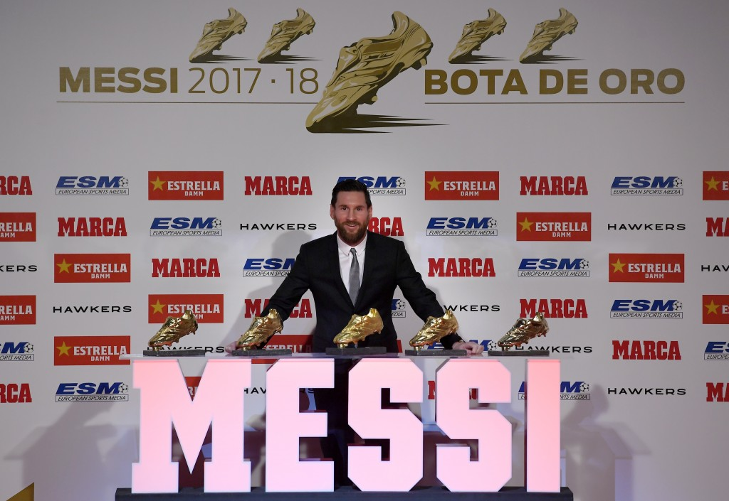 Five Golden Boots and counting now for Messi.