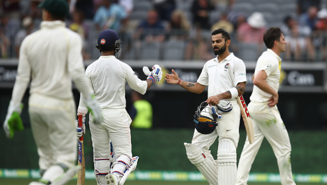 Kohli and Rahane staged India's fightback at Perth.