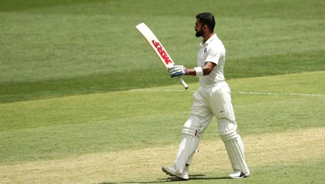 A 25th Test ton for Virat Kohli.