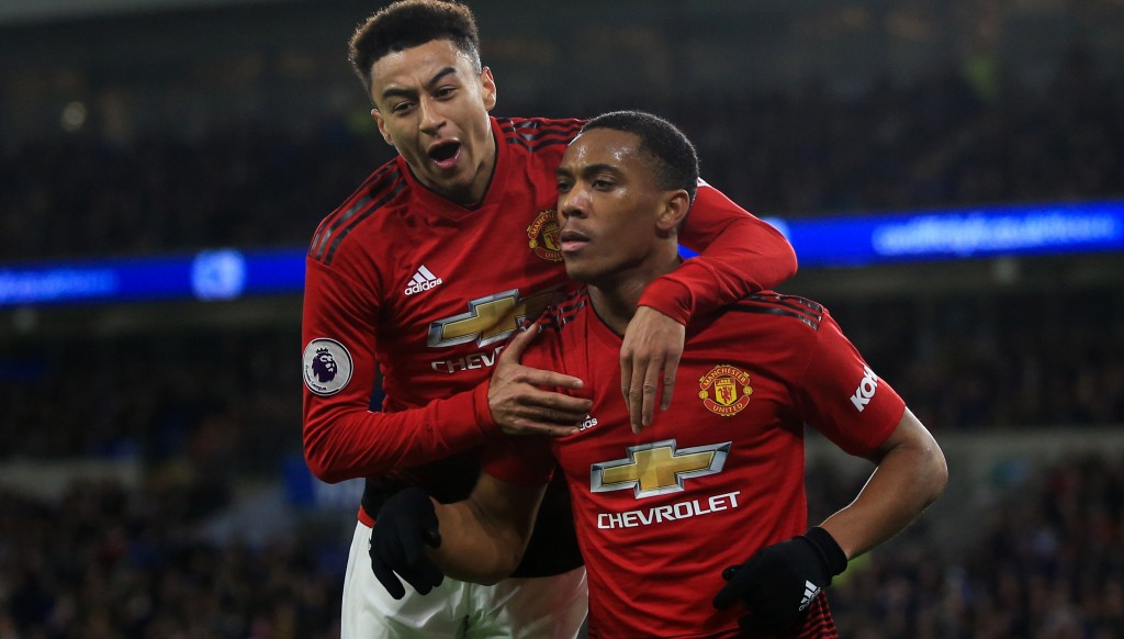 Jesse Lingard and Anthony Martial may both start for United.