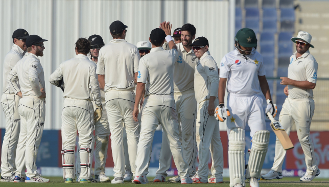 Pakistan were bowled out for 348 on day three of the Abu Dhabi Test.