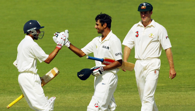Rahul Dravid and Parthiv Patel after Adelaide Test win against Australia in 2003 (photo - Sport 360)