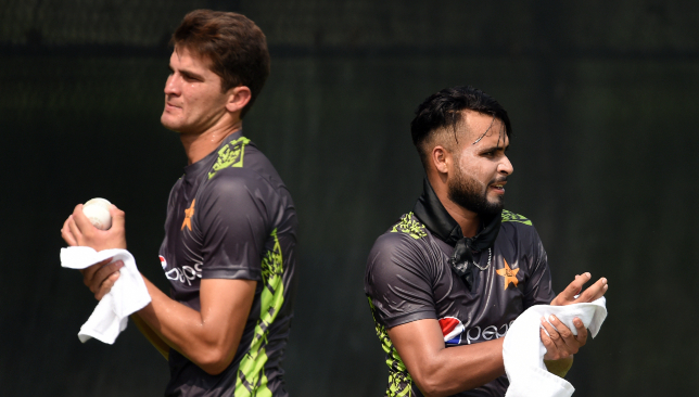 Shaheen Afridi (l) will make his Test debut for Pakistan.