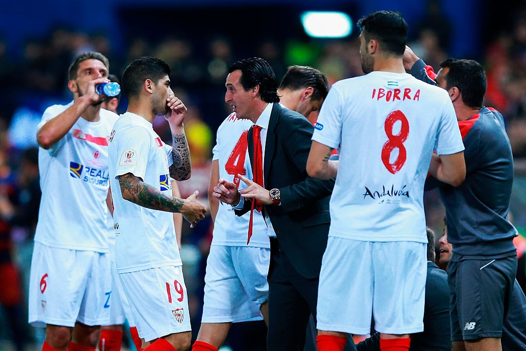 Unai Emery won a hat-trick of Europa titles with Sevilla