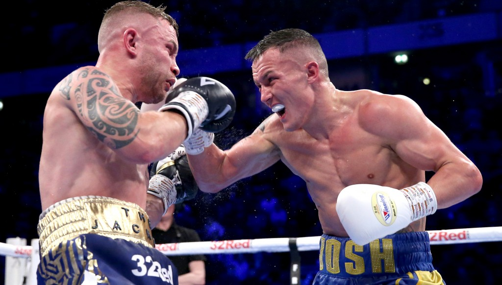 Warrington made a successful first defence of his IBF strap.