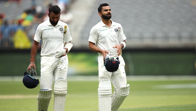 Kohli and Pujara are battling it out in the middle for India.