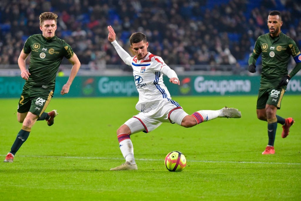 Lyon's French midfielder Houssem Aouar
