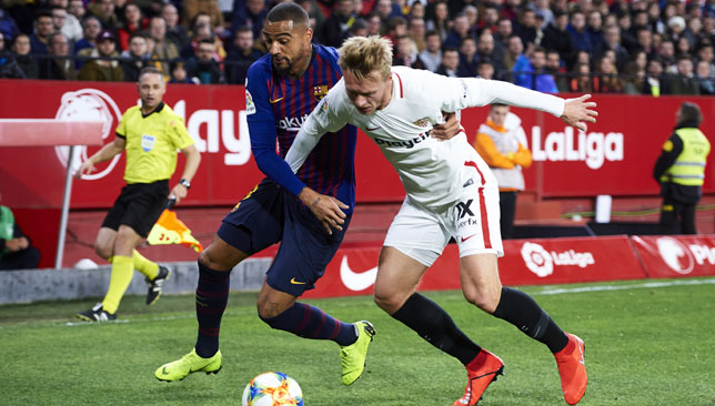 Kevin-Prince Boateng made his Barcelona debut.