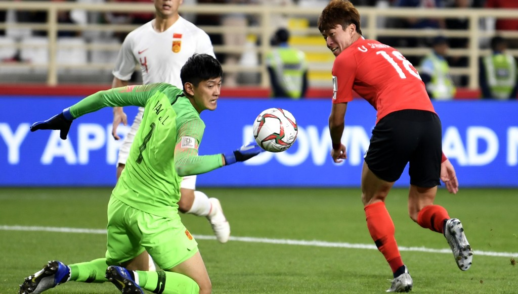 China keeper Yan Junling was a busy man in Abu Dhabi.