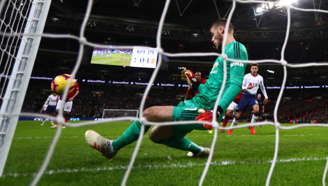 De Gea was in inspired form during United's 1-0 win at Wembley last season.