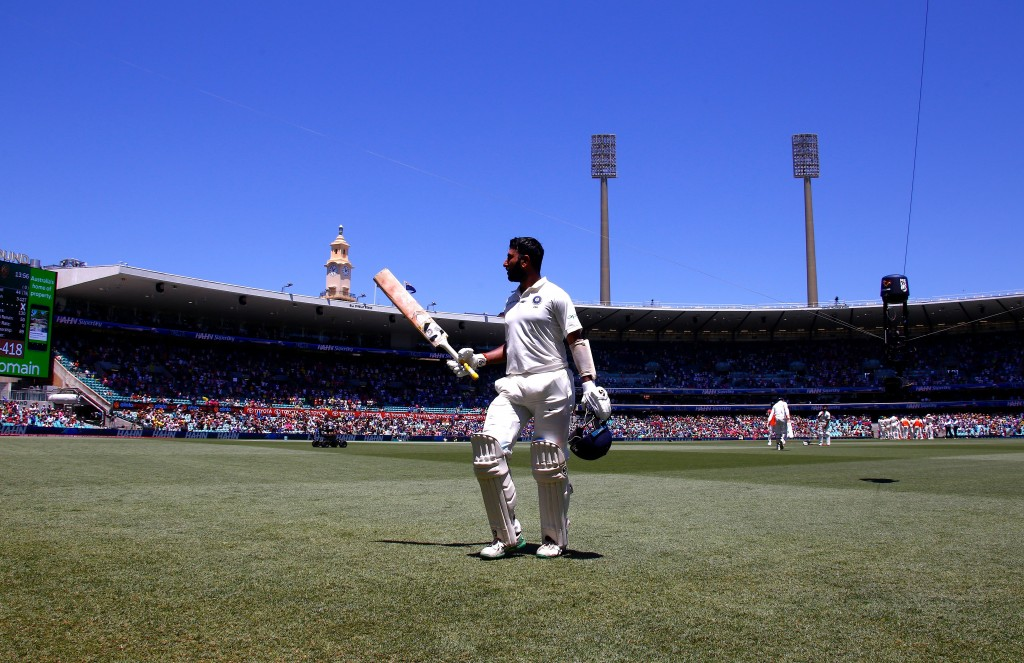 A standing ovation for Cheteshwar Pujara.