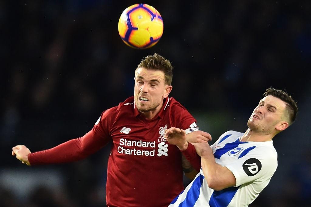 Jordan Henderson in action against Brighton