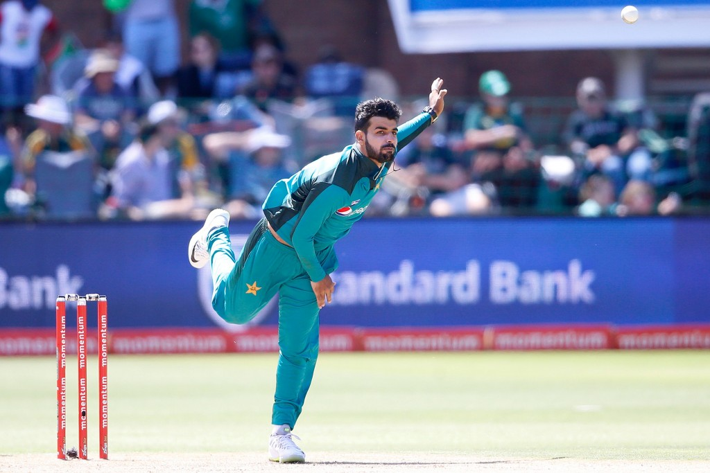 Shadab Khan did not allow South Africa's batsmen any easy runs.