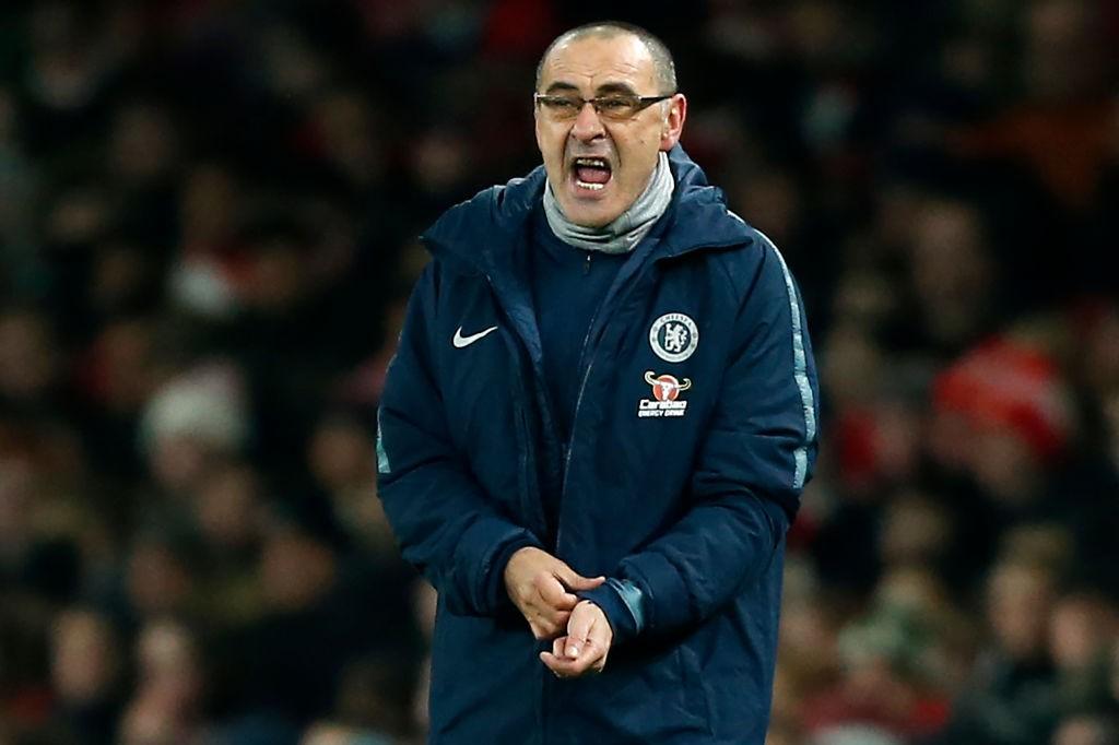 Chelsea's Italian head coach Maurizio Sarri