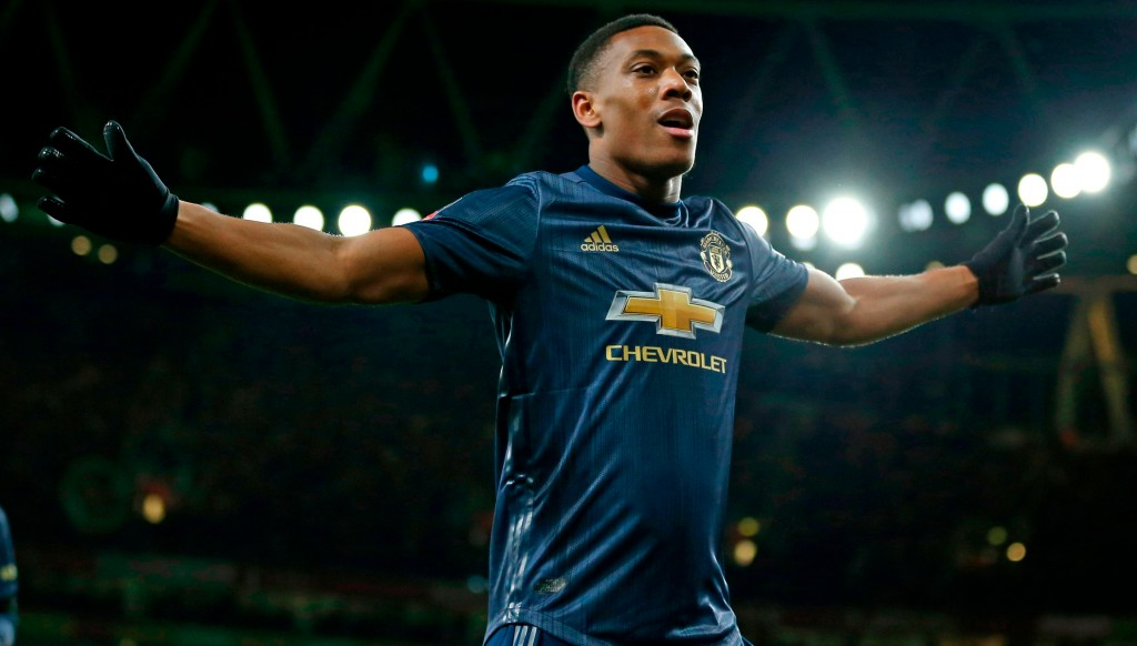 Martial came off the bench to net United's third.