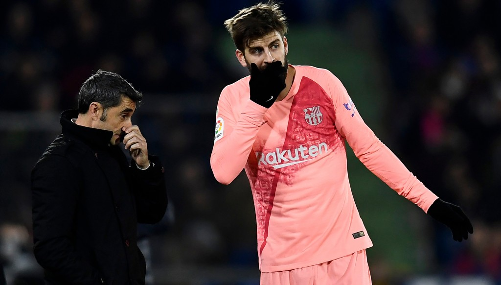 Pique was one of Barca's star men.