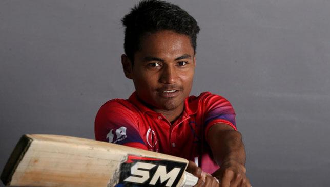 Nepal batsman Rohit Paudel. Image: ICC/Twitter.