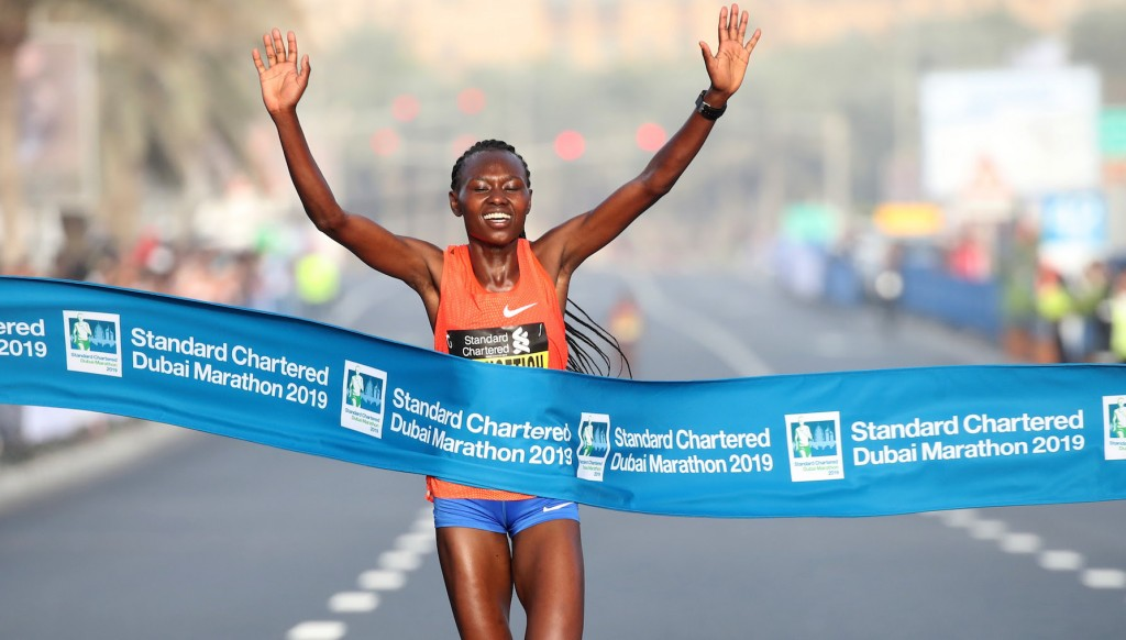 Chepngetich smashed the women's course record by more than two minutes.