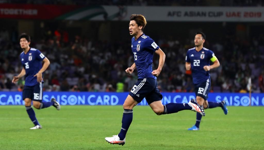 Osako celebrates his crucial opener.