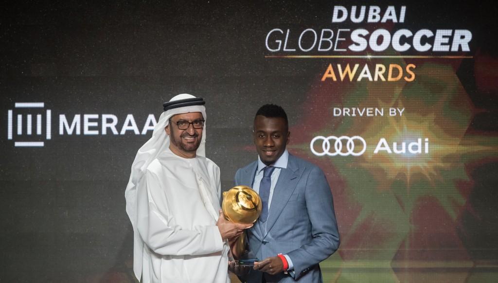 Winner: France star Blaise Matuidi with a Special Career Award