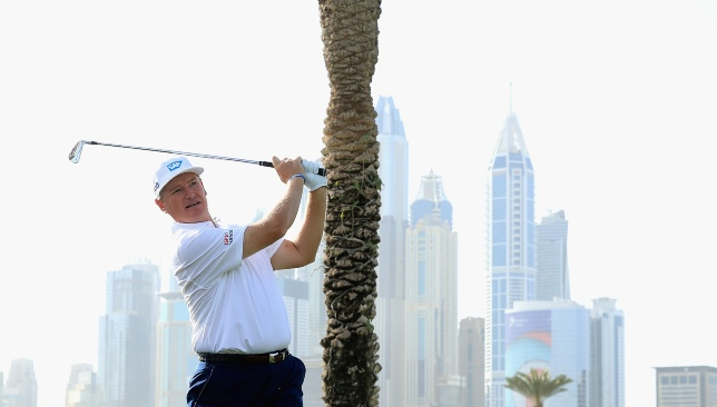 Three-time champion Ernie Els remains in contention.