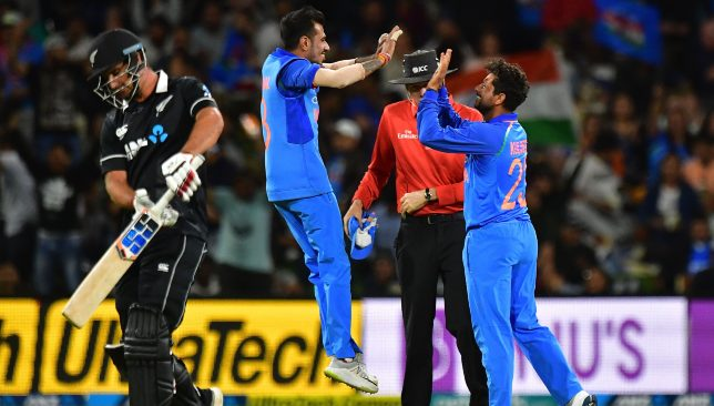 Kuldeep continues to bamboozle the Kiwi batsmen.