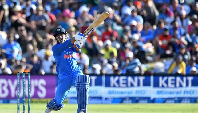 Dhoni provided the finishing touches to India's innings.