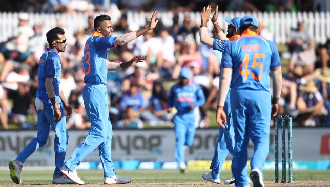 Pandya picked up two wickets on his return to the ODI side.