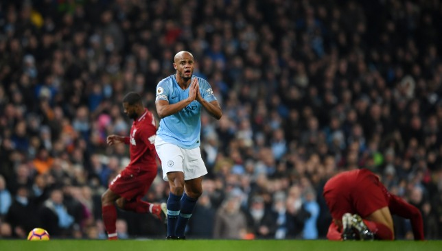 Kompany has been sidelined since City's win over Liverpool.
