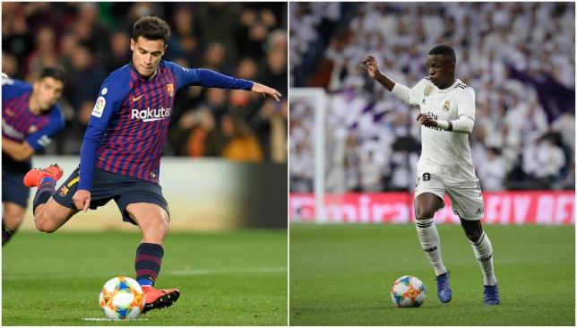 Coutinho and Vinicius Junior.