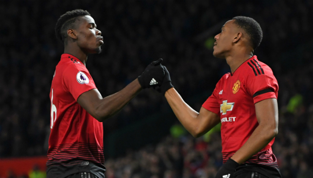 Pogba and Martial.