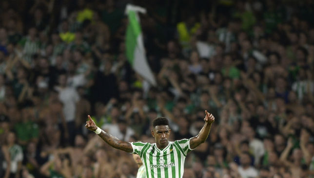 Real Betis left-back Junior.