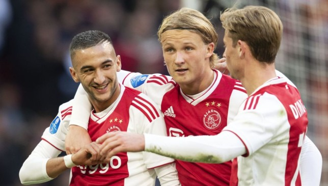 Ziyech, Dolberg and de Jong