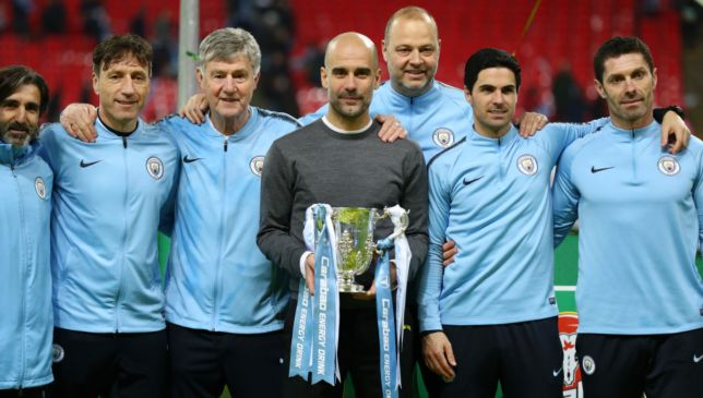 Pep Guardiola with the League Cup