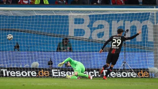 Kai Havertz scores for Leverkusen