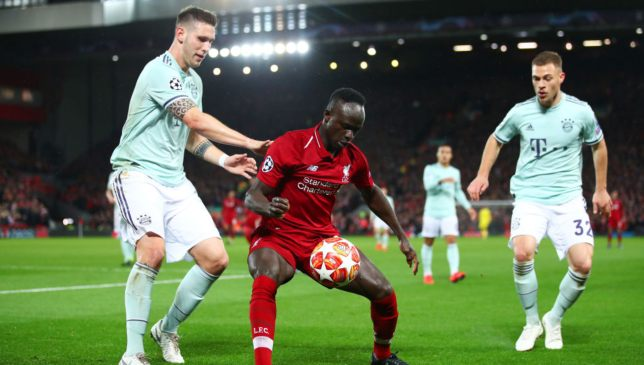 Sadio Mane in action against Bayern Munich