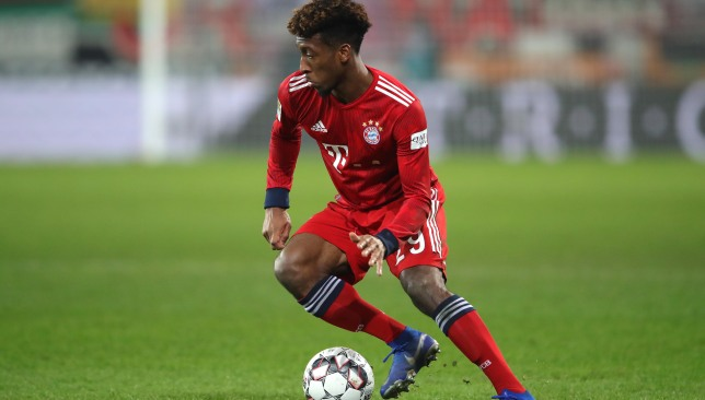 Image result for Bayern clear Coman for Liverpool Champions League match