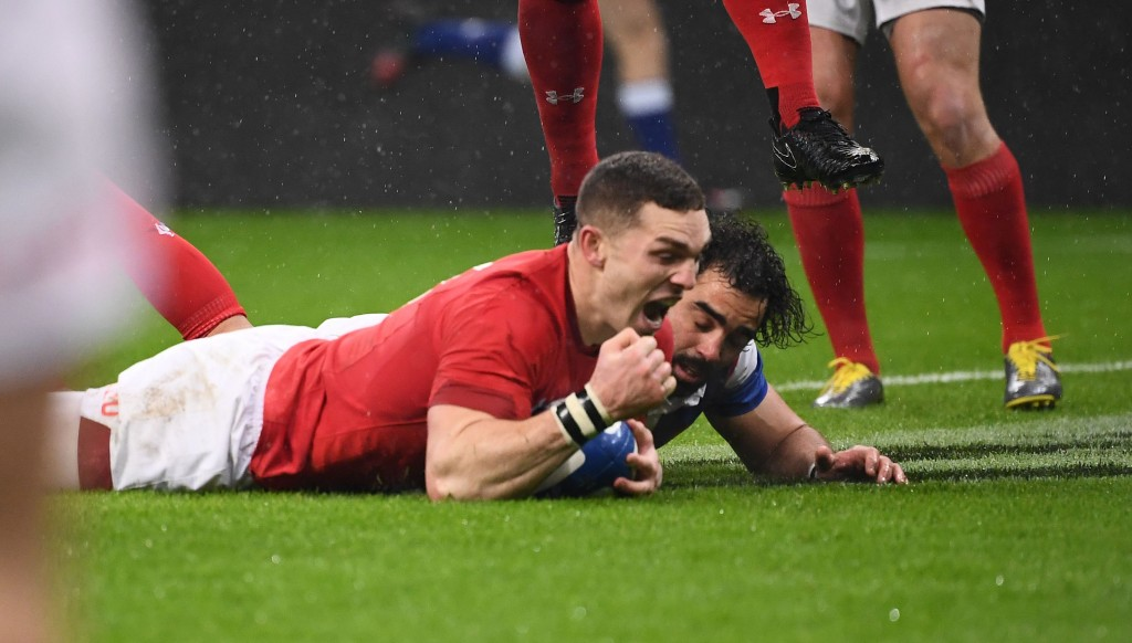 George North scored two tries in a fine second half for Wales.