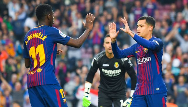 Ousmane Dembele and Philippe Coutinho
