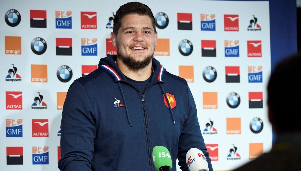 South Africa-born lock Paul Willemse is also making his Les Bleus debut.