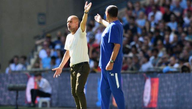 Pep Guardiola and Maurizio Sarri (1)