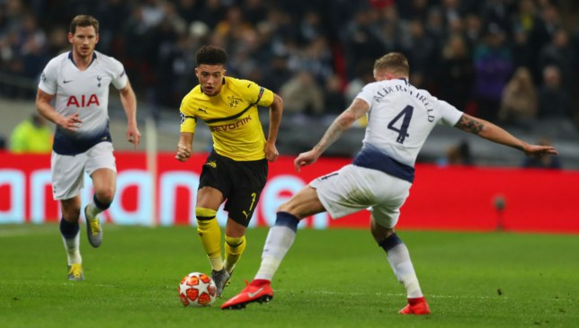 Jadon Sancho had a good first half for BVB before fading.