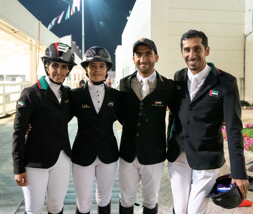Standing proud: Team UAE