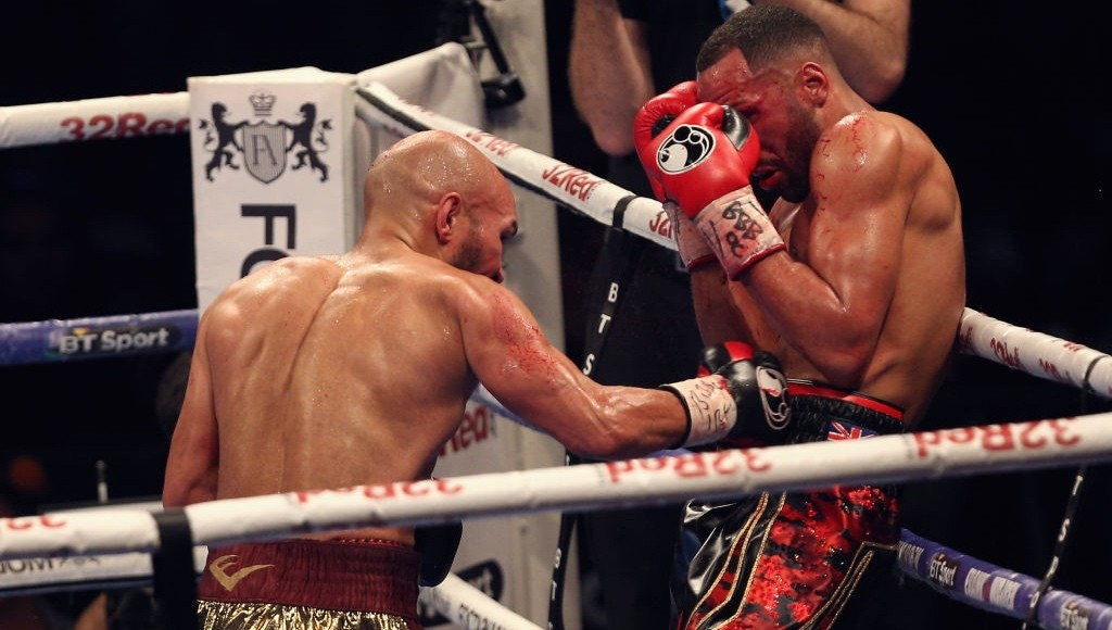 Tasting defeat: A below-par DeGale lost to Caleb Truax at Copper Box Arena on December 9, 2017 in London