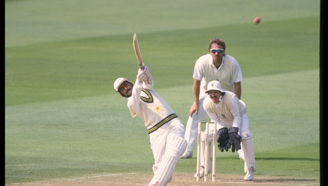 Javed Miandad in action against England.