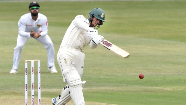 Quinton de Kock played a counter-attacking innings of 80.